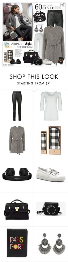 """Wanderlust Wonderful: Airport Style"" by mcheffer ❤ liked on Polyvore featuring Yves Saint Laurent, American Vintage, Whistles, Beats by Dr. Dre, Tod's, MICHAEL Michael Kors, Tiffany & Co., Lizzie Fortunato and airportstyle"