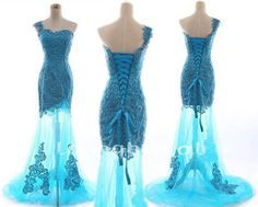 Blue Mermaid Wedding Dress