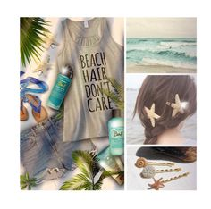 """""""B e a c h Hair"""" by nonniekiss ❤ liked on Polyvore featuring beauty, Alexander Wang, Trilogy and Bumble and bumble"""