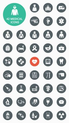 Medical Vector Icon Set [AI, EPS and PSD]
