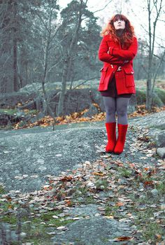 seeing red (felt boots)