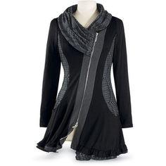 Черный платок клобук Женская мундир Top Размер 3X