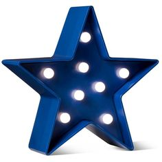 4th of July Blue Battery-Operated Lit Décor Star - POPTIMISM!™ :... ($3.25) ❤ liked on Polyvore featuring home, home decor, holiday decorations, blue home decor, lighted home decor, blue home accessories and star home decor