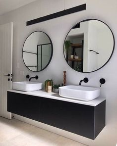Vanity, basins, taps for kids bathrooms Bathroom Kids, Bathrooms, Taps, New Homes, Vanity, Interior Design, Mirror, Architecture, Instagram