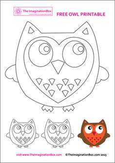 The ImaginationBox: Free owl template to download and decorate