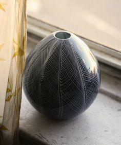 Hey, I found this really awesome Etsy listing at https://www.etsy.com/listing/37149066/onyx-vase-hand-blown-art-glass-vase