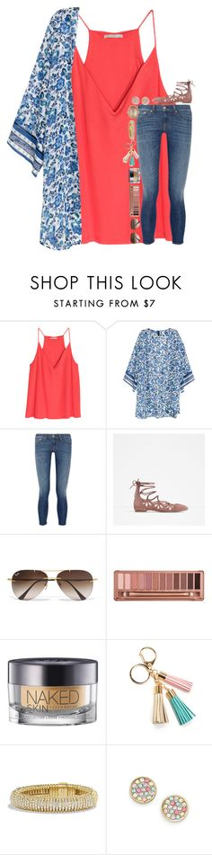 """""""I like to think that even my bad days are great days, just because of you ;)"""" by simply-lilyy ❤ liked on Polyvore featuring rag & bone, Zara, Ray-Ban, Urban Decay, David Yurman, Kate Spade and Larkspur & Hawk"""