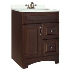 $249 would need paint Gallery 24 in. W x 21 in. D x 33.5 in. H Vanity Cabinet Only in Java-GJVM24DY at The Home Depot