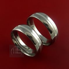 Titanium His and her Rings Classic Style with by StonebrookJewelry, $234.92