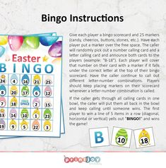 Easter Bingo, Easter Games, Easter Activities, Easter Party, Bingo Games, Party Games, Bingo Patterns, Easter Printables, Printable Party