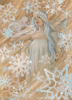 Snowflake Fairy 8.5x11 Signed Print Illustration