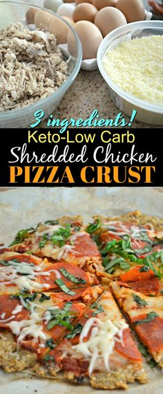 Need a legitimate, simple, low-carb pizza crust that tastes delicious? This brilliant chicken pizza crust is the best and uses only three ingredients. It's perfect for busy people who miss yummy pizza! Healthy Pizza, Low Carb Pizza, Chicken Crust Pizza, Keto Chicken, Low Carb Recipes, Healthy Recipes, Pizza Recipes, Tuna Recipes, Healthy Dinners