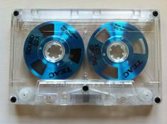 "Teac ""open reel"" cassette tape."