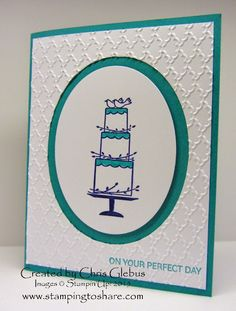 Stamping to Share Shoebox Swap Cards, Chris Gelbus, Your Perfect Day, Wedding, 2015 Occasions Catalog, Stampin' Up!