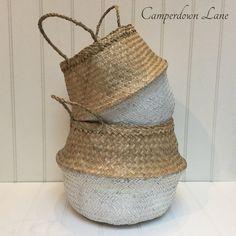White Bottom Belly Basket