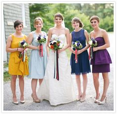 mix-n-match bridesmaid dresses