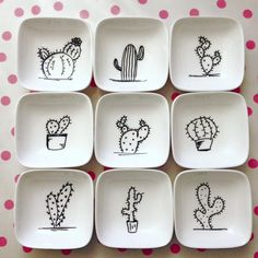 Cacti so beliebt Crackpot Café, wir könnten es tun . Pottery Painting Designs, Pottery Designs, Mug Designs, Ceramic Cafe, Ceramic Plates, Ceramic Pottery, Clay Projects, Clay Crafts, Diy And Crafts