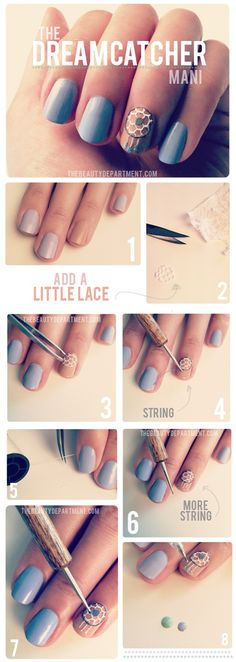 Dreamcatcher nail tutorial  @leanngallella lets do this tonight