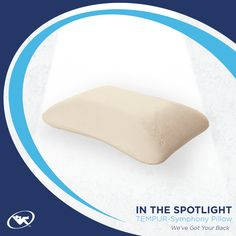 Perfect for back or side sleepers, this Tempur-Pedic pillow design is slightly softer yet supportive to fit any sleep position.   Find more info on the TEMPUR-Symphony pillow here: http://www.relaxtheback.com/pillows/the-symphonypillow-by-tempur-pedicr.html