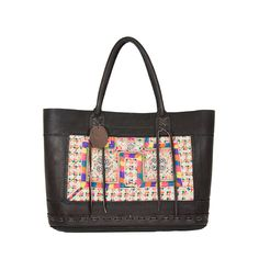 Sturdy Leather Tida Tote in Black | White Ibiza Boutique