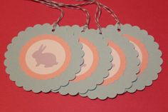 Round Easter Bunny Gift Tags by AmbersScrapbooksEtc.etsy.com on Etsy, $2.50