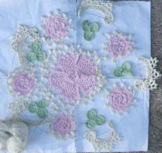 Irish crochet lace workshop sample