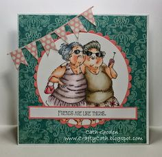 Paper Expressions: Senior-itas Mildred and Maude stick together!