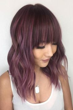 Chocolate lilac hair has become trendy these days. Have you already seen all the… Chocolate lilac hair has become trendy these days. Have you already seen all the latest hot shades? You can observe them in our photo gallery. Hair Color 2017, Cool Hair Color, Hot Hair Colors, Unique Hair Color, Ombré Hair, Emo Hair, Lavender Hair, Hair Color For Women, Hair Shades