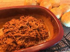 Pulled Pork Burger, Japchae, Food And Drink, Meat, Cooking, Ethnic Recipes, Dinner, Dutch Oven, Dips