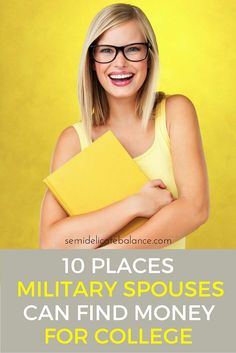 10 Places Military Spouses Can Find Money for College, ideas for scholarships and grants