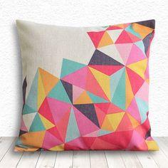 Coussin géométrique - multicolor