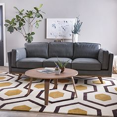 Shop for Astoria Grey Oxford Leather Sofa. Get free shipping at Overstock.com - Your Online Furniture Outlet…