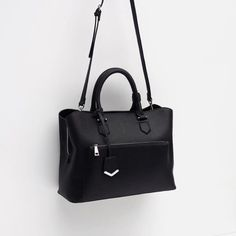 New Zara black Office City Bag Never used, can fit laptop, you can hold it two ways - shoulder strap and has 3 compartments including one for your laptop. Perfect for school or work and still selling at Zara for $70!! Zara Bags Satchels