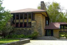 Taliesin East. Frank Lloyd Wright. South of Spring Green, Wisconsin. 1911,1914, 1925 (remodels and additions) photo by Steve Hoge