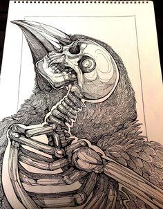 WolfSkullJack aka Michelle Harvey (UK) - Within Us, 2013   Drawings