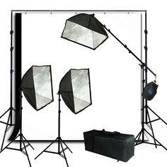 Lusana Studio Softbox Equipment Photography Light Muslin Backdrop Stand Kit  #LusanaStudio