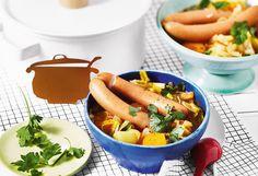 Würstel-Eintopf mit Kraut Kraut, Carrots, Sausage, Vegetables, Food, Stew, Easy Meals, Food Food, Cooking