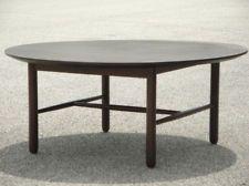 1960s Eames Era Danish Modern Round Low Coffee Table