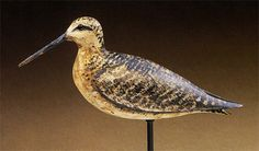 """William """"Bill"""" Bowman  Dowitcher decoy in spring plumage  Lawrence, New York, circa 1880  Private collection"""
