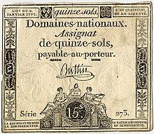 Assignat: paper bill issued in France as currency from 1789 to during the French Revolution. 23 Mai, French Signs, French History, History Timeline, French Revolution, Roman Catholic, Revolutionaries, Vintage World Maps, Paris