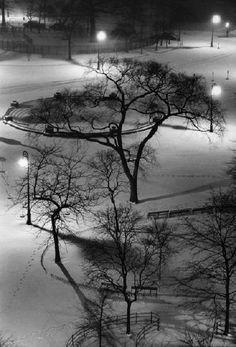 Washington Square Park at Night, by André Kertész 1954