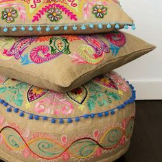 Add a pop of colour with our 'Gone Wild' cushion collection x #abode #abodeaustralia #cushion #cushions #interior #inspiration #interiorstyle #designer #design #pop #colour #ottomans #ottoman #giftideas #gifts