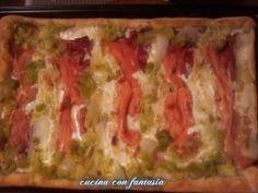 Pizza, specke, cipollotti e crescenza