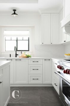 gray kitchen floor blue appliances creamy white cabinets paired with supreme quartzite have a look at the best ideas to add for bringing style your space whitekitchencabinets whitekitchen kitchencabinets