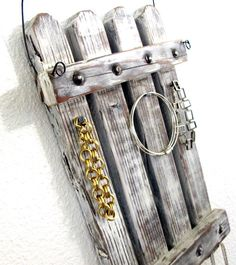 Rustic Jewelry Hanger Display Organizer