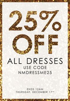 Nicole Miller: 25 hours, 25% OFF DRESSES STARTS NOW | Milled