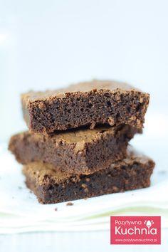 #przepis na brownie czekoladowe klasyczne, bez bakalii czy innych dodatków  http://pozytywnakuchnia.pl/brownie/  #Brownies #brownie #ciasto #kuchnia #czekolada