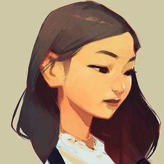 Resultado de imagem para asian flat design character