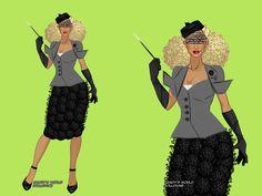 PROMO  Inspirado no figurino que Madonna usou no clipe de Take a Bow.