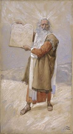 Moses and the Ten Commandments - James Tissot